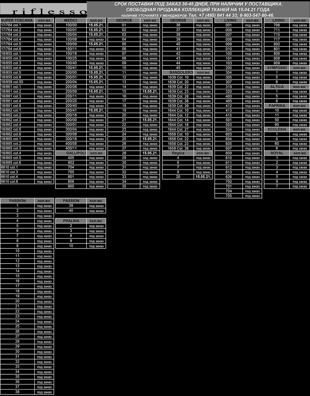 Наличие тканей Riflesso 15_04_2021
