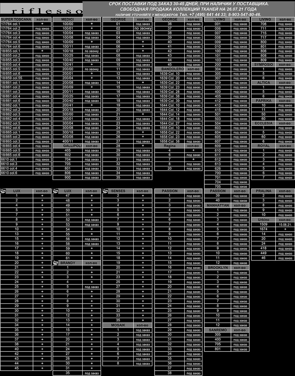 Наличие тканей Riflesso 26_07_2021